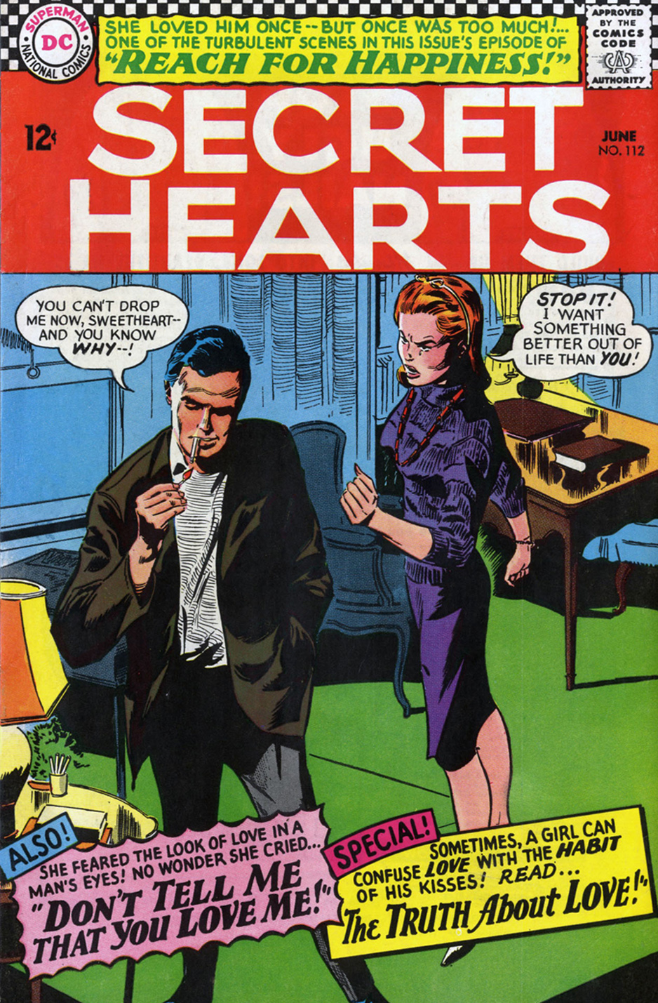 Secret Hearts Reach for Happiness Episode Gene Colan romance comic book adaptation of Peyton Place long running soap opera