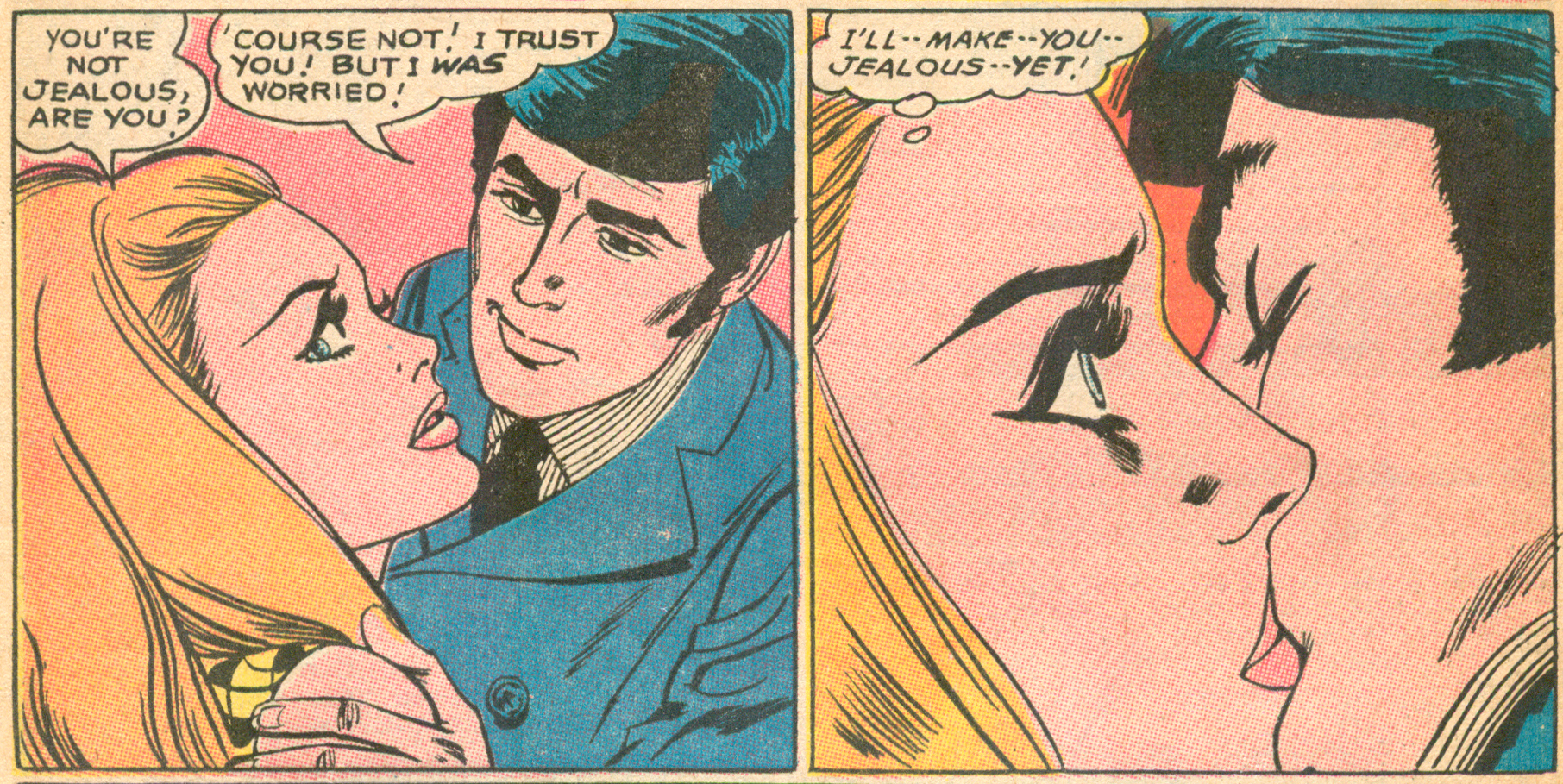 """I Confess"" (part II)  Girls' Romances  #137 (December 1968), Script: Jack Miller (Grand Comics Database), Pencils and Inks: Tony Abruzzo, DC Comics."