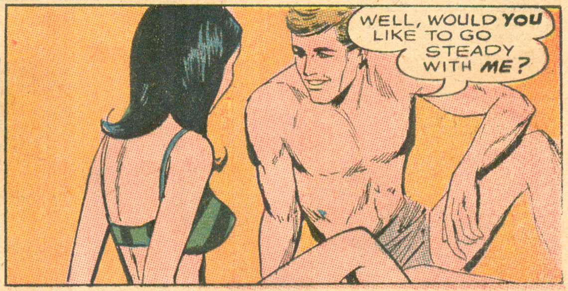 """Unworthy of Love!""  Secret Hearts  #127 (April 1968), DC Comics."