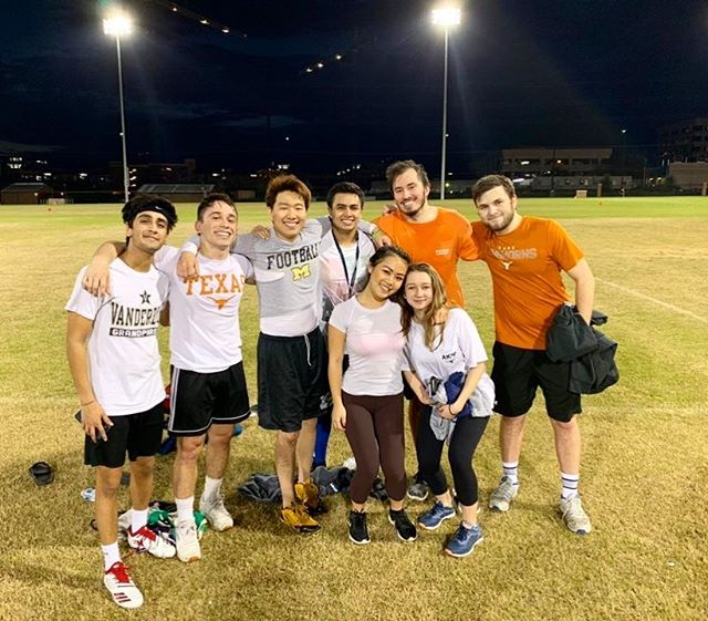 AKPsi flag football takes the W