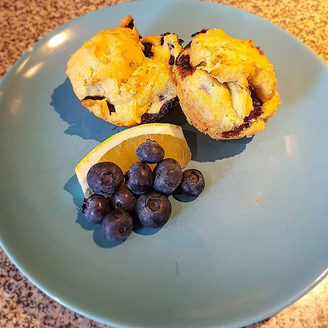 Gluten Free Blueberry Muffins for snack time today.  #ibs #glutenfree #digestivehealth #lowfodmap #funwithoutfodmaps
