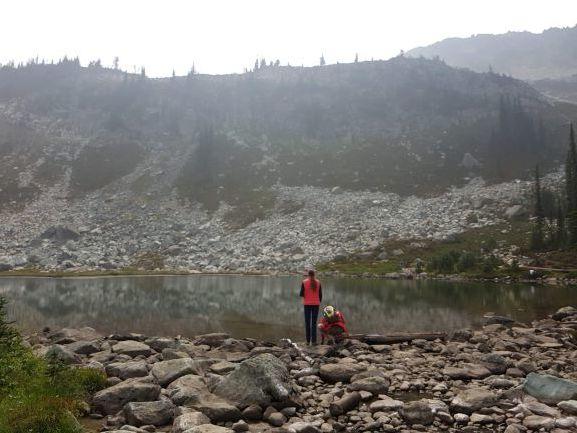 Smoke Filled Air at Harmony Lake, Whistler—Photo by Kandice Leaf