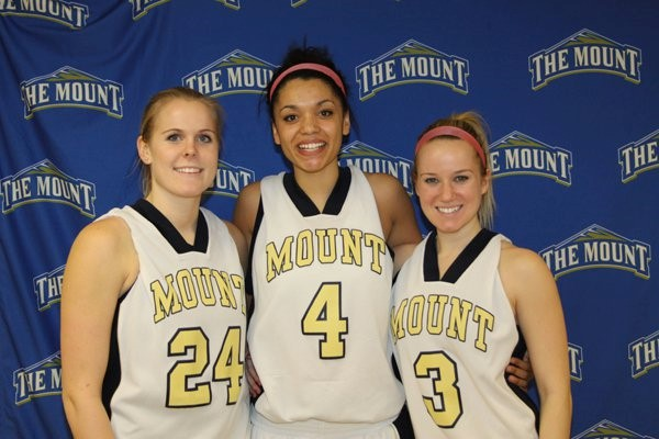Kristin and her fellow teammates their senior year on the women's basketball team at Mount Saint Mary's University.