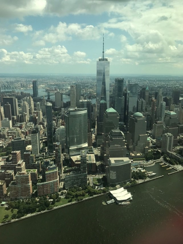 Kristin's view from her helicopter ride over NYC.