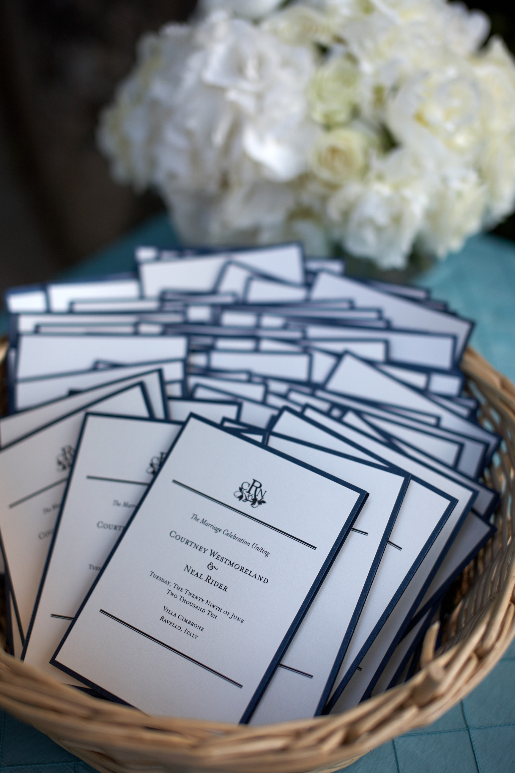 Stationary Details - Ravello, Italy -Summer Wedding - Julian Leaver Events