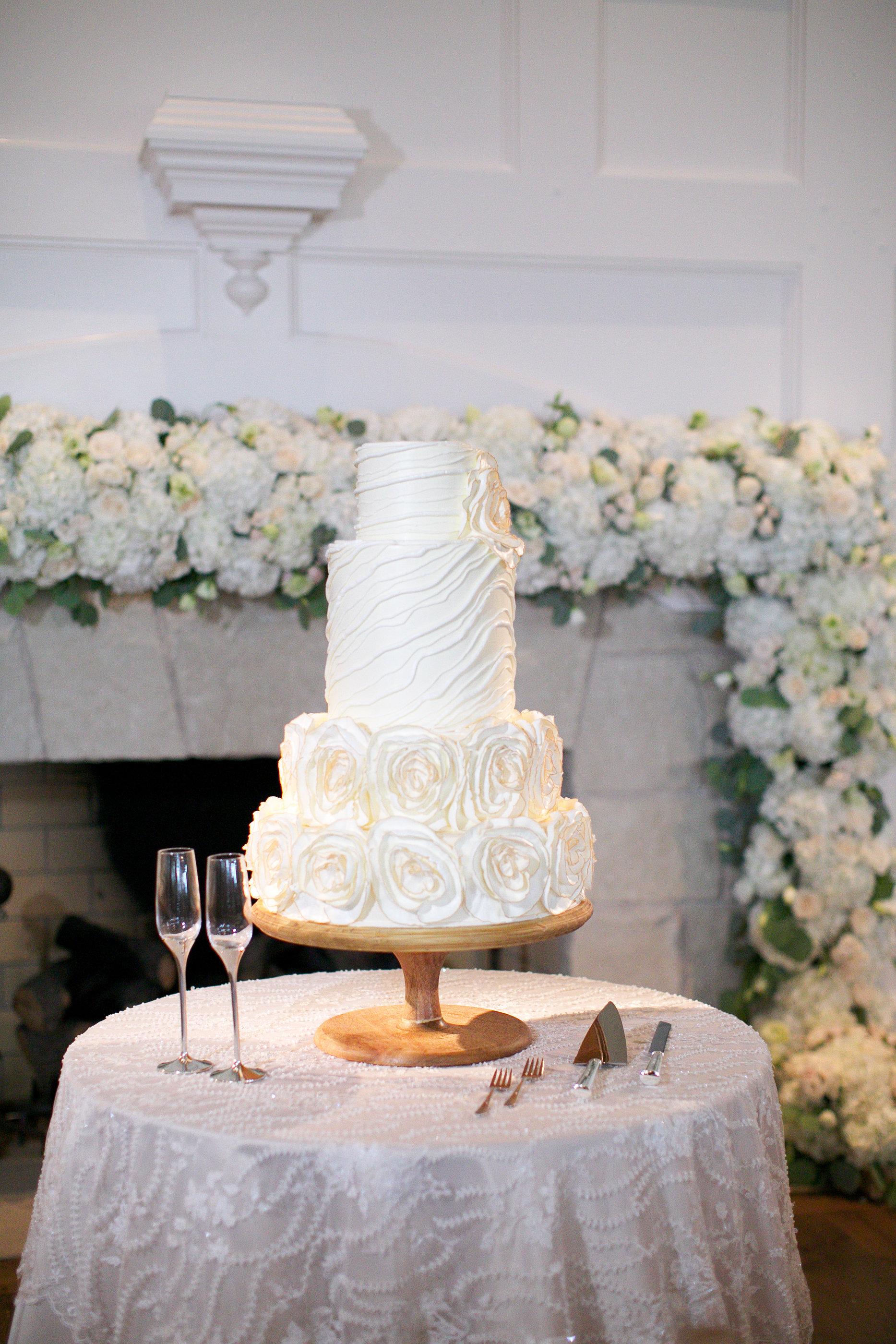 Cake Details - Kiawah Island, South Carolina - Fall Wedding - Julian Leaver Events