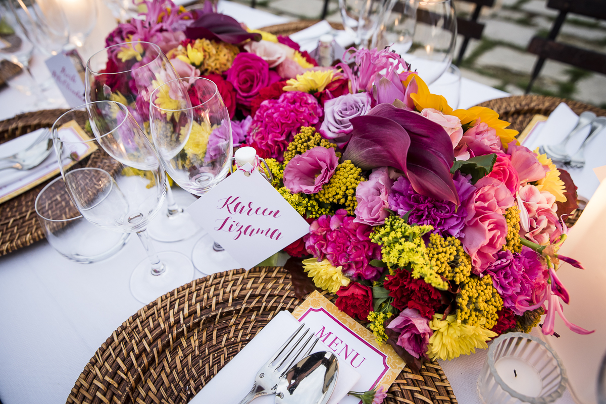 Flower Details - Castello Di Casole, Italy - Fall Birthday - Julian Leaver Events