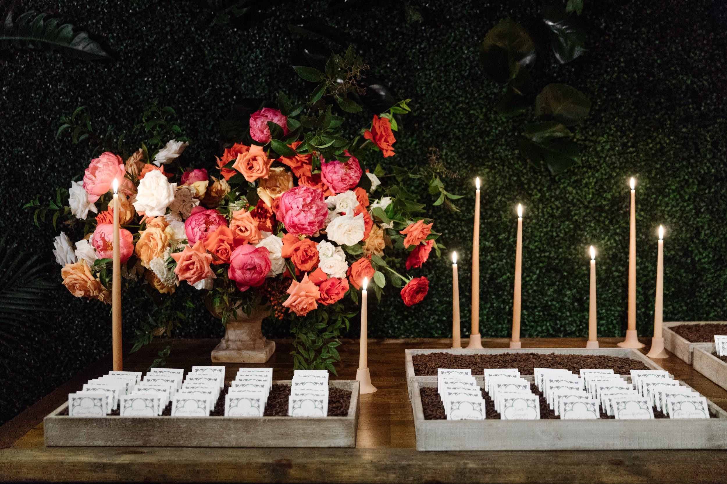 Escort Card Details - Dallas, Tx - Fall Wedding - Julian Leaver Events