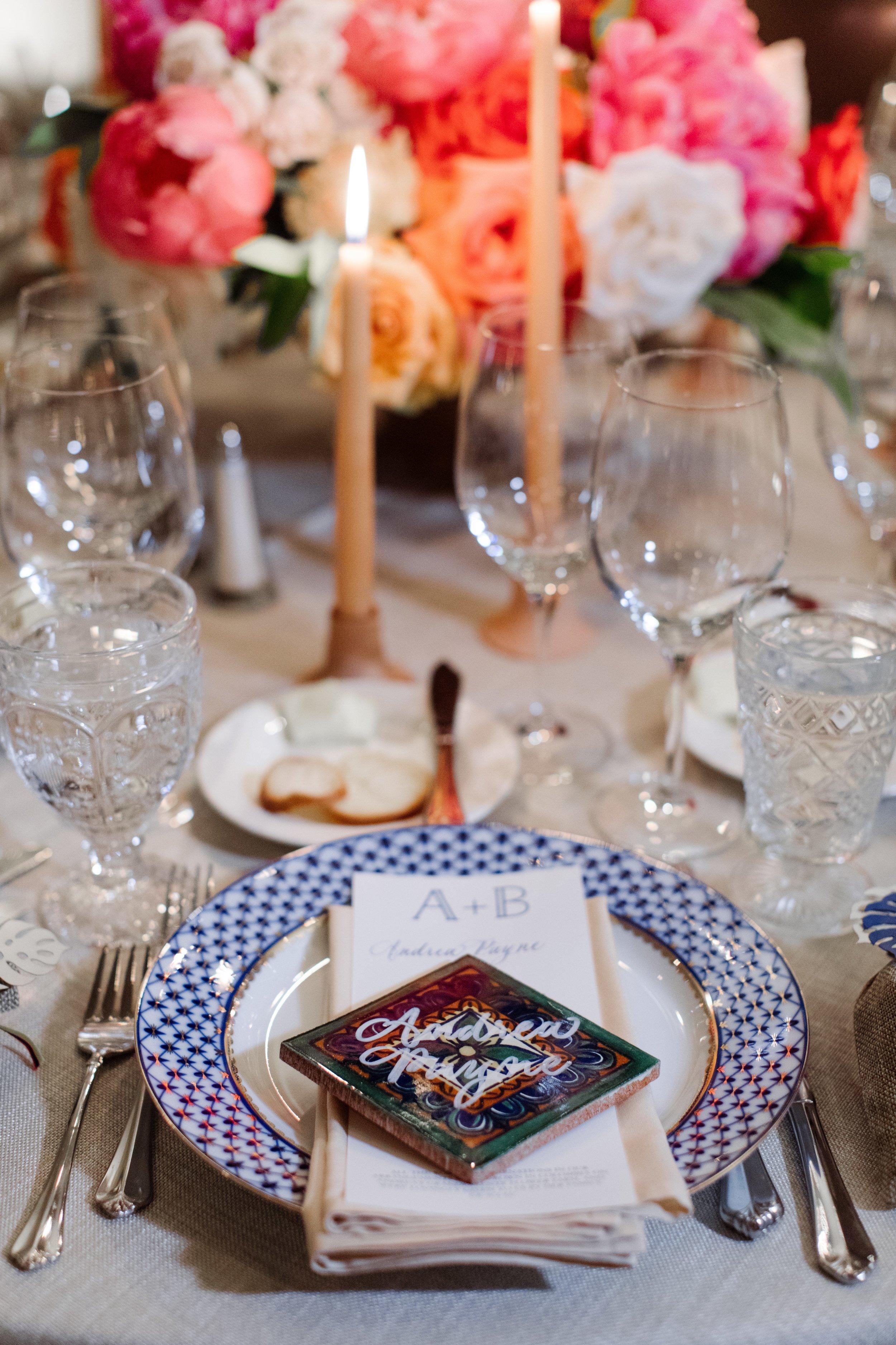 Tabletop Details - Dallas, Tx - Fall Wedding - Julian Leaver Events