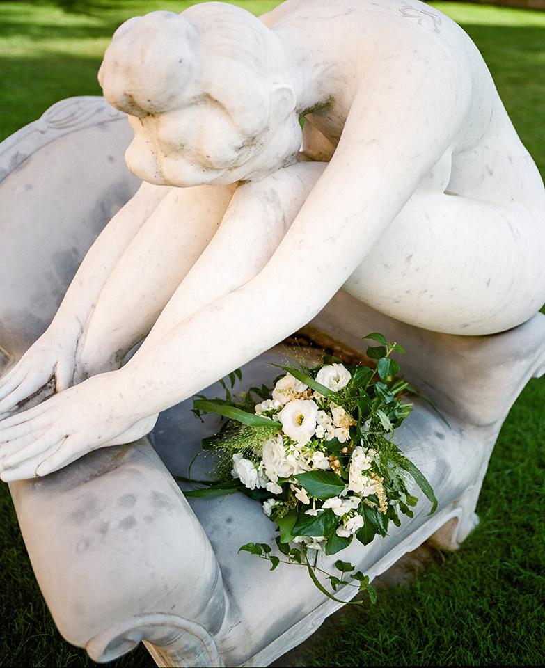 Bouquet Details - Castello Di Casole, Italy - Summer Wedding - Julian Leaver Events