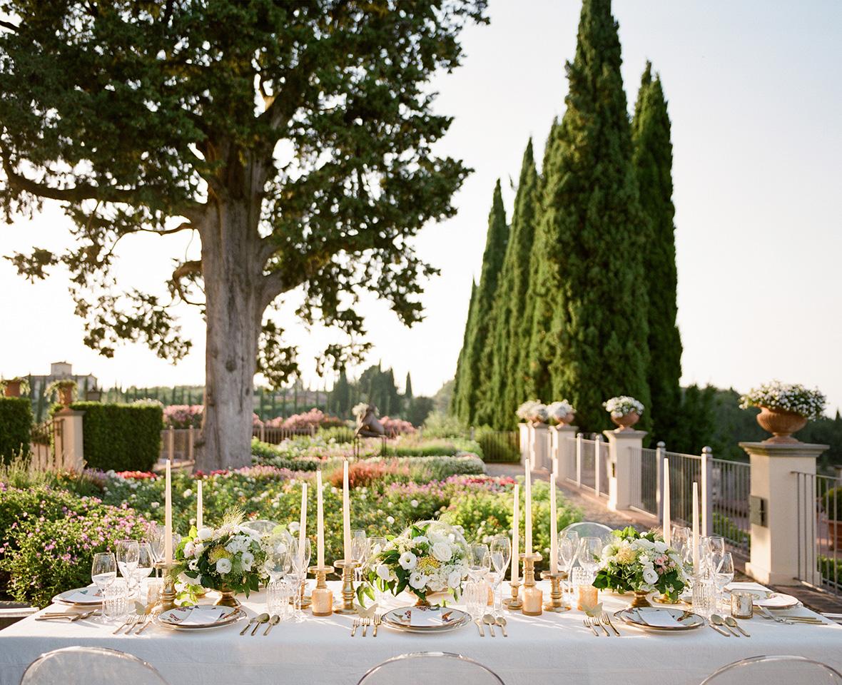 Reception Details - Castello Di Casole, Italy - Summer Wedding - Julian Leaver Events