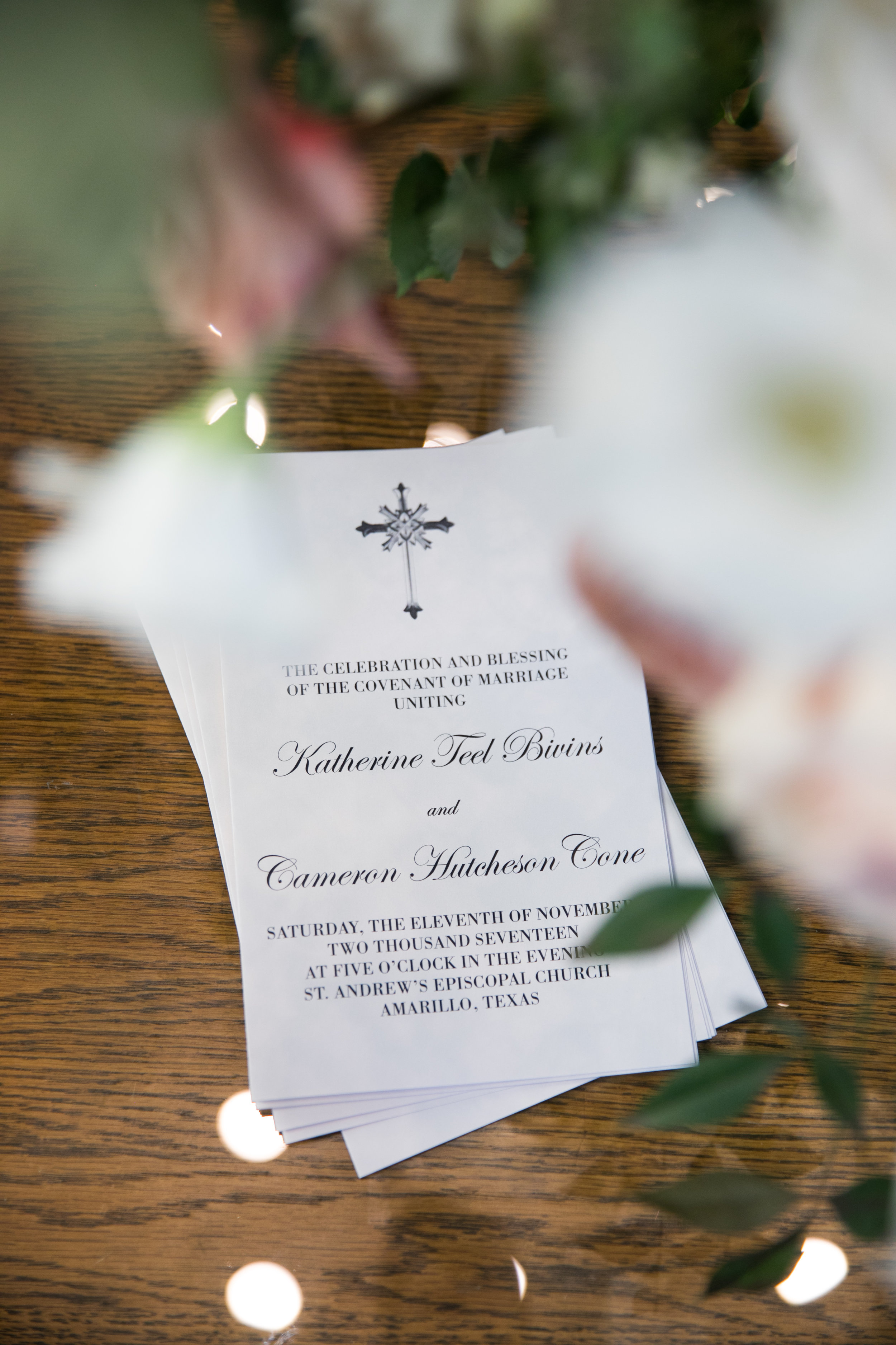 Stationery Details - Amarillo, Texas - Fall Wedding - Julian Leaver Events