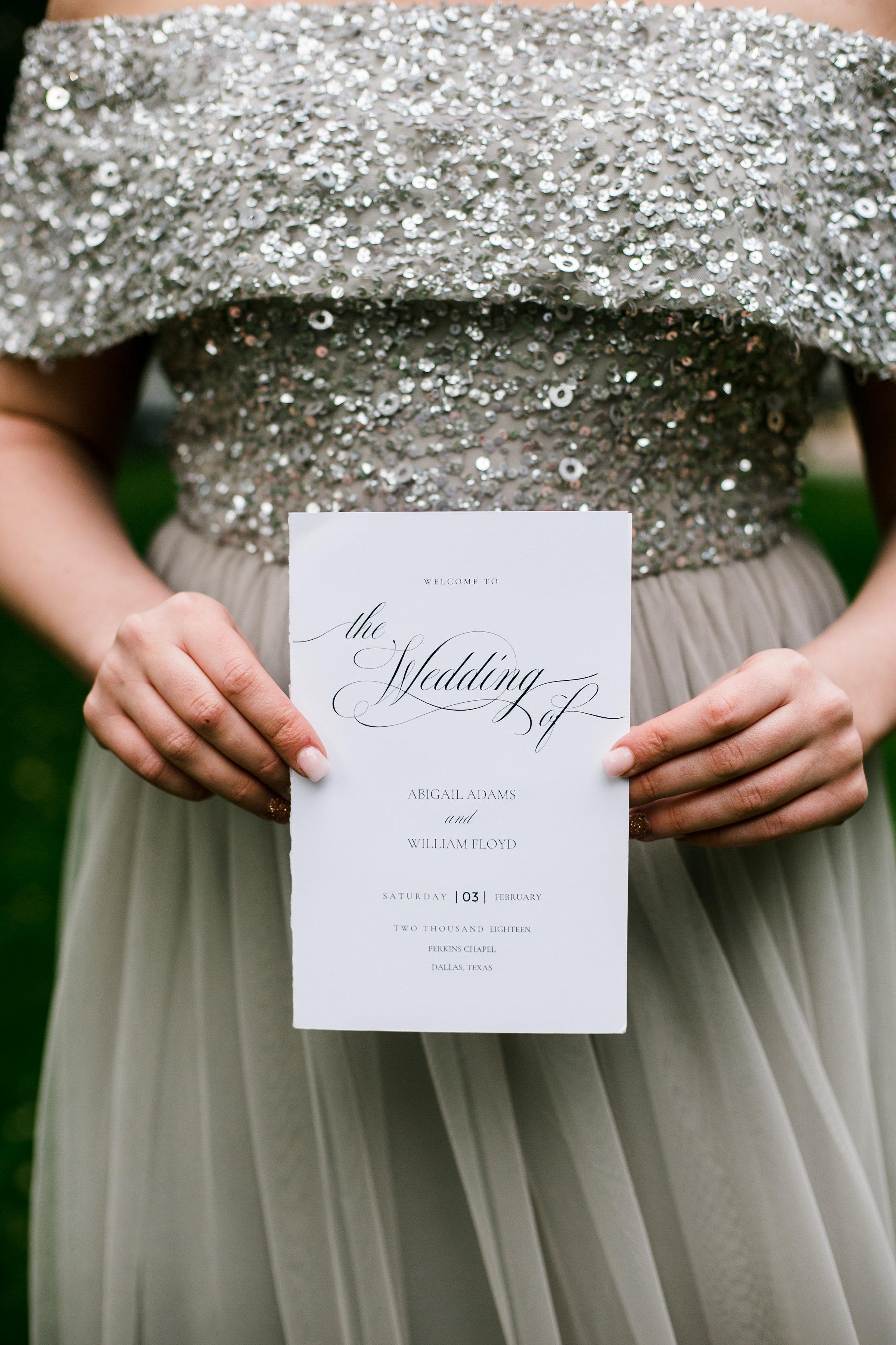 Personalization Details - Dallas, Texas - Winter Wedding - Julian Leaver Events