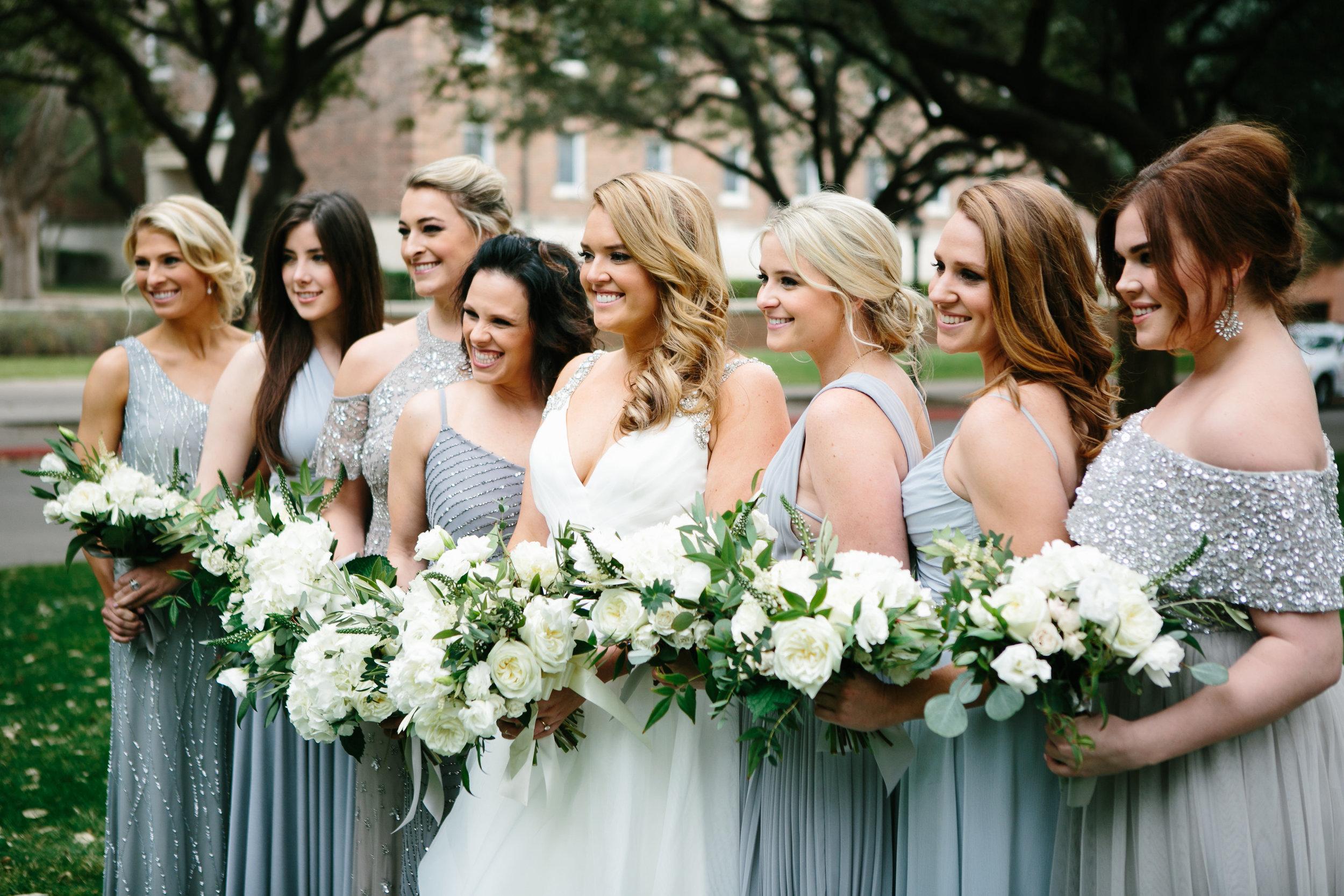 Bridal Party Details - Dallas, Texas - Winter Wedding - Julian Leaver Events