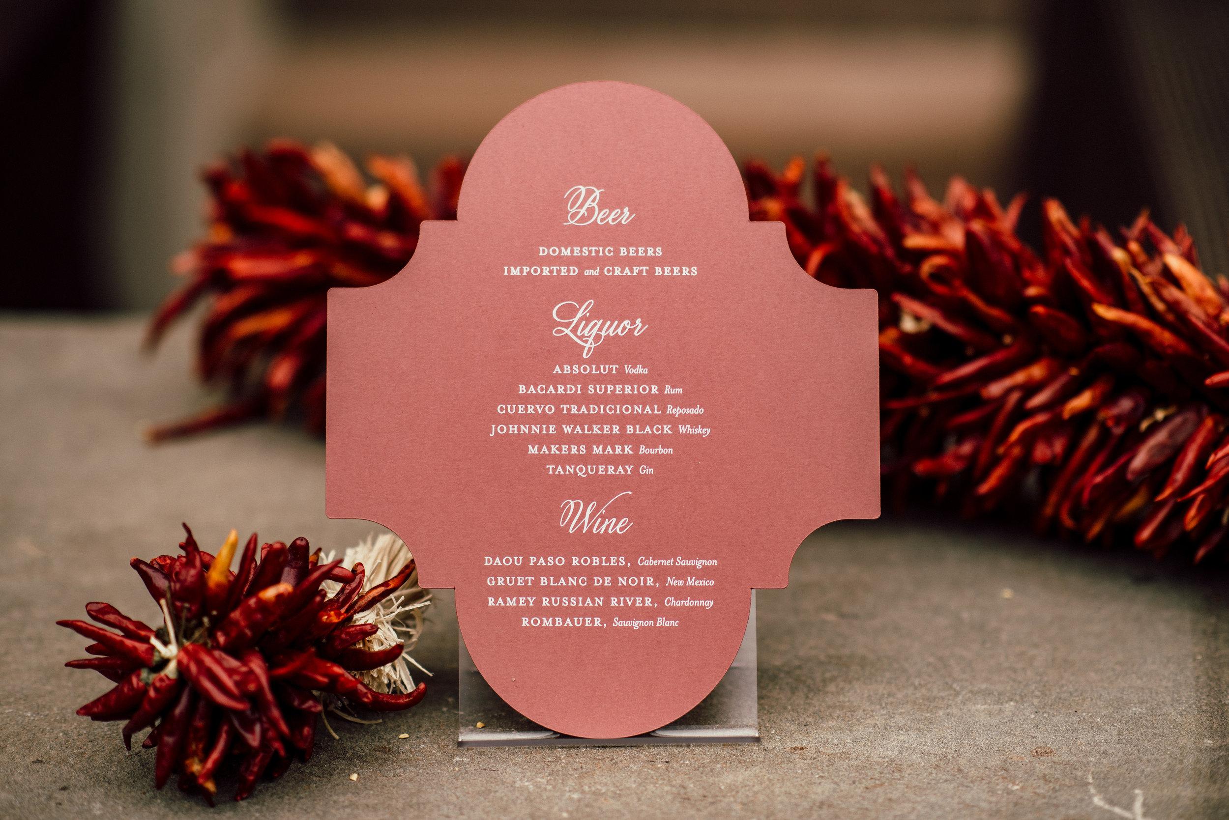 Cocktail Hour Details - Santa Fe, New Mexico - Summer Wedding - Julian Leaver Events