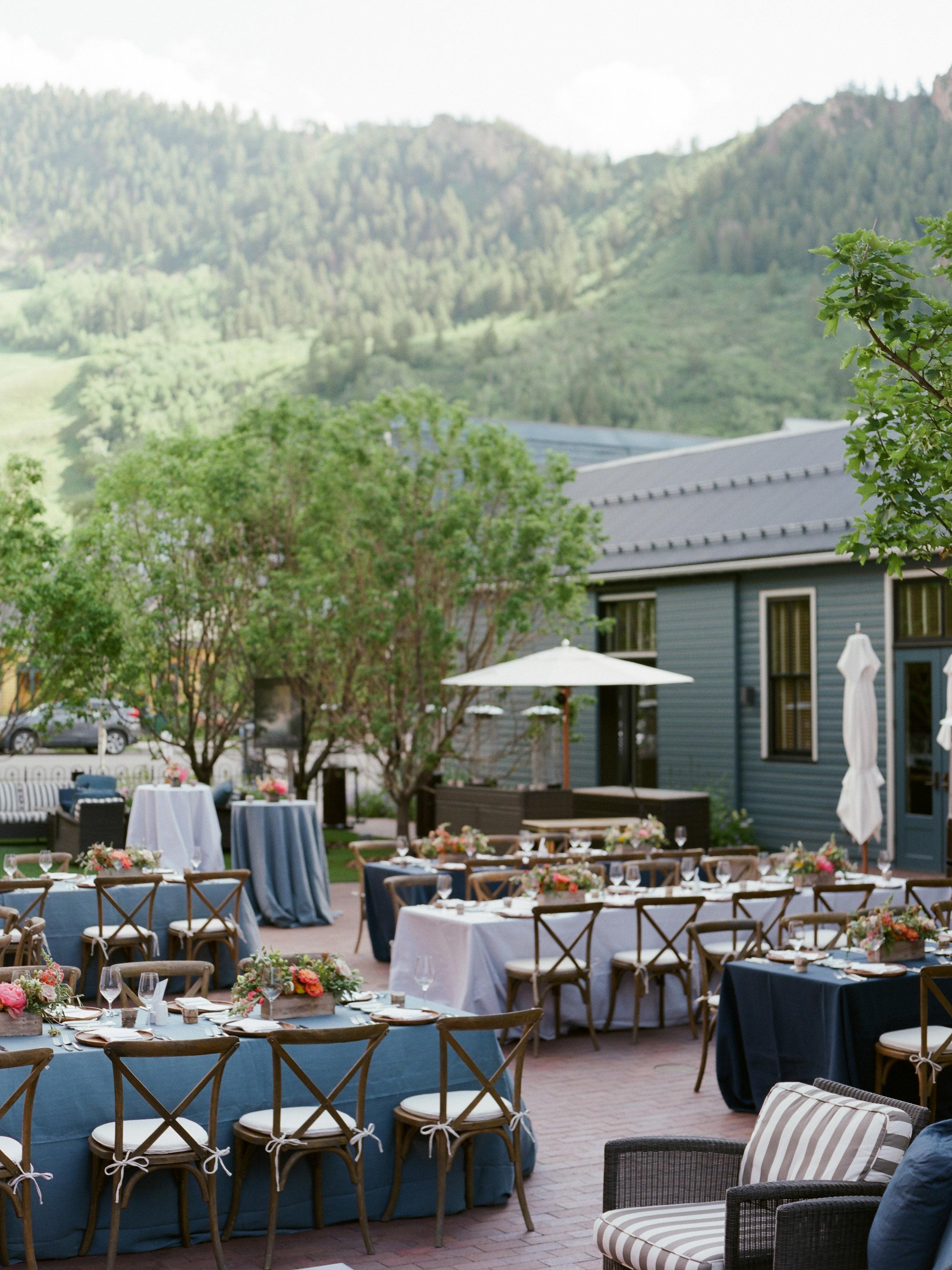Rehearsal Dinner Details - Aspen, Colorado - Summer Rehearsal Dinner - Julian Leaver Events