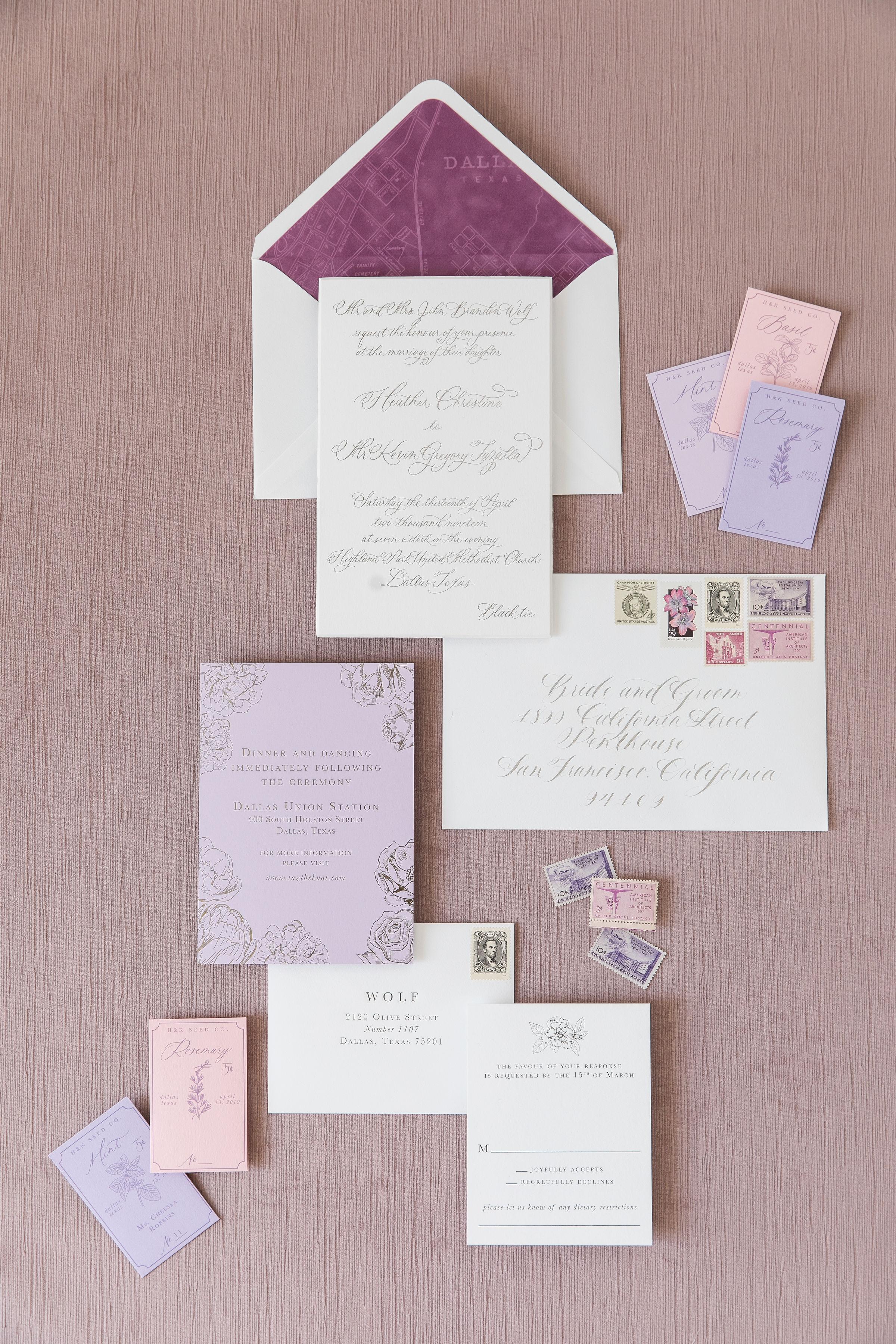 Stationery Details - Dallas, Texas - Spring Wedding - Julian Leaver Events