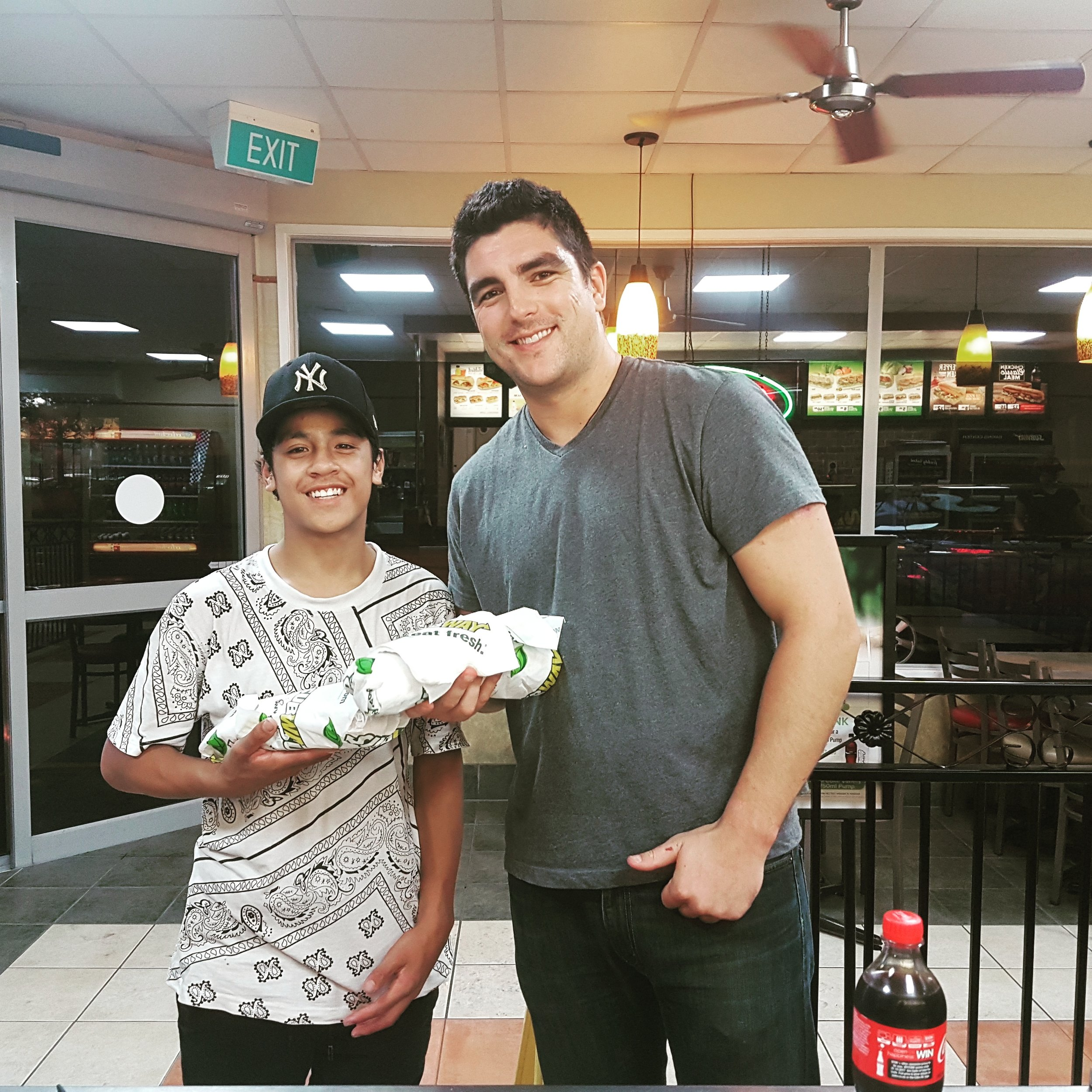 Thanks to Subway Te Rapa for ensuring Anaru get's to go to sleep with a full belly after every trampoline class