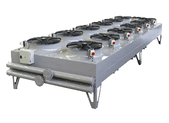 A dry cooler works well in milder climates and ensures a closed loop system for the owner which does not require filtration or make-up water, thereby protecting the water cooled condensers connected to the system.