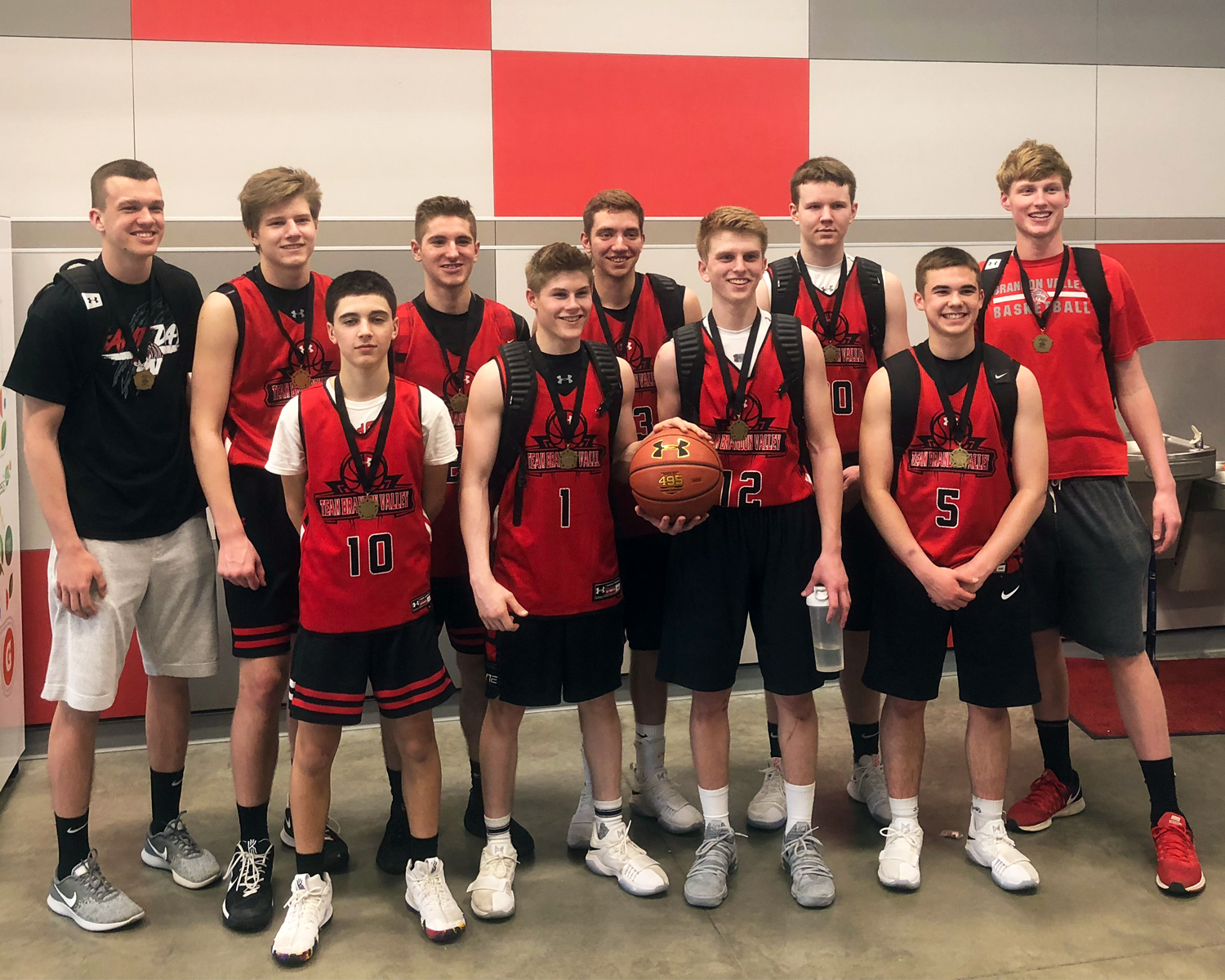The Team Brandon Valley varsity players earned a first place finish at the Omaha Sports Academy tournament last weekend.