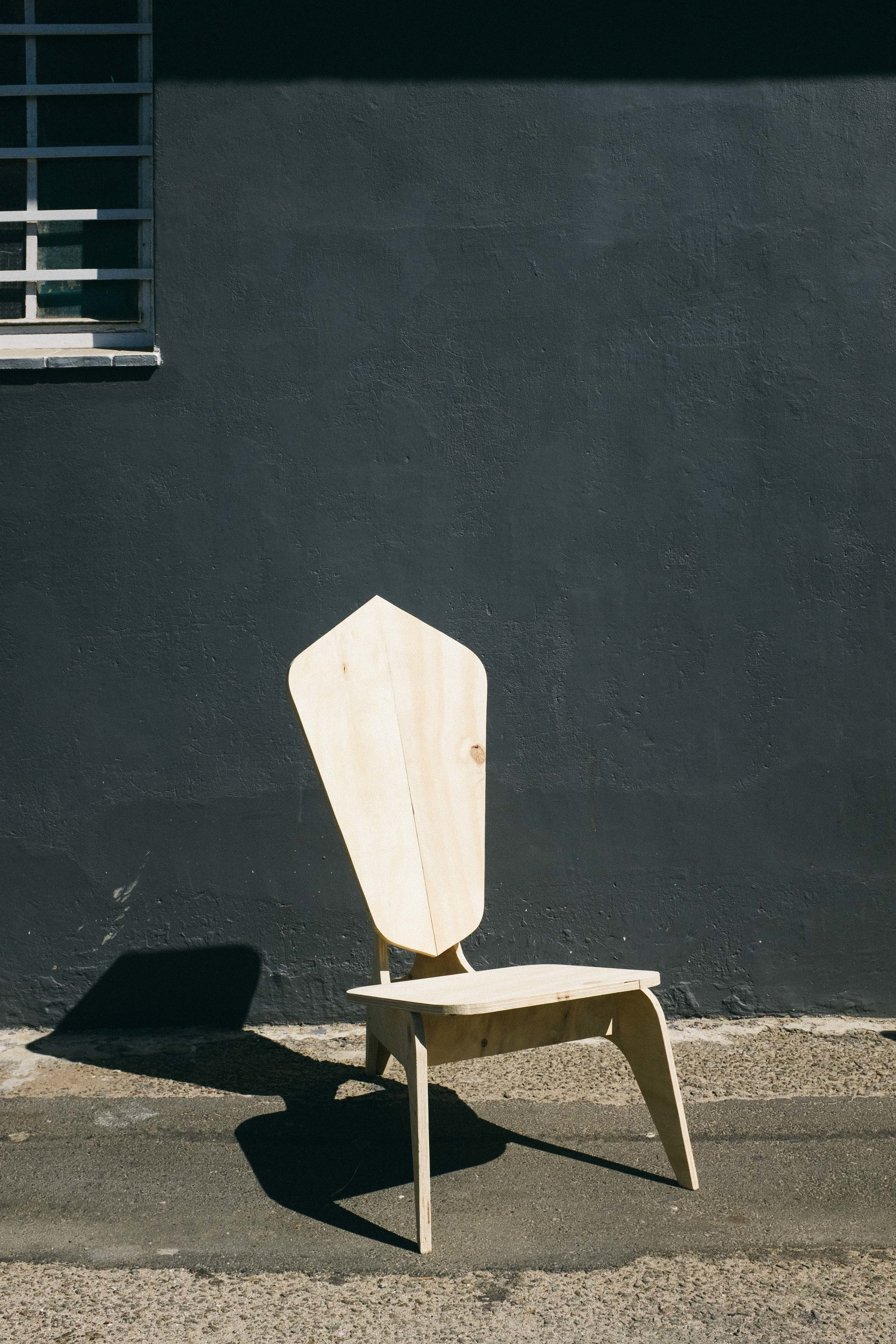 Lounge chair: designed from 1/3 sheet of plywood minimising the number of cuts