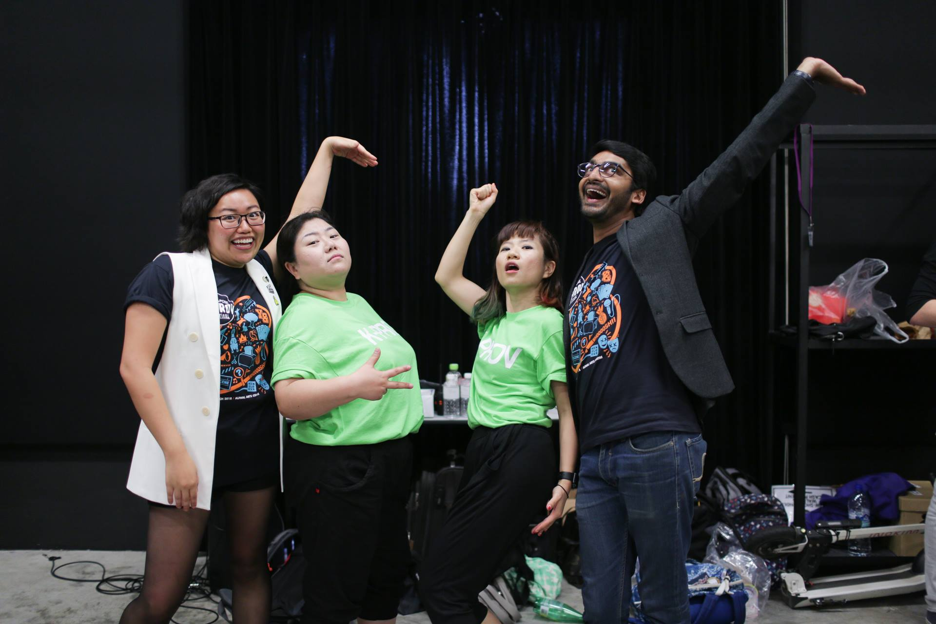 Imfrog from South Korea, having fun with our festival hosts