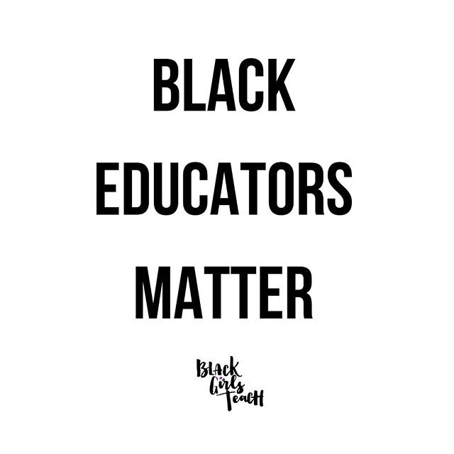 And you know what our growth matters. Our development matters. Our unpacking, unlearning and enlightenment matters. Our voices matter. Our presence matters. Our expertise matters. Our experiences matter. Too often do I see folks and organizations centering everybody else's growth, enlightenment and development but OURS. Know that I will always center Black educators and I advise you to remind folks that WE matter. Honestly I wish I could scream it! 🗣🗣🗣🗣We Matter!! It's more than just a catch phrase, it is a fact. This should be evident in an organization/schools/brand's ACTIONS. And it goes further than hiring us, that's a start but it's 2019, folks need to prioritize retaining us, developing us and listening to us. #Period. Have a great day.