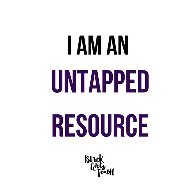 As I updated my LinkedIn, I was reminded of this. I'm sure many of you are also untapped resources so I wanted to share my area of expertise in hopes that it will encourage you to do the same. Maybe this will help with amplifying Black women's voices, referring more Black women to great opportunities, allowing us to feel seen and remind us that there are some areas we are the bomb at. Feel free to repost and share what YOU are GREAT at! It may feel slightly uncomfortable but u know what, we don't always have to be so humble. There are too many of us doing the damn thing and nobody but our colleagues know. Time to change that. Tag 3 people you want to share their expertise!⁣ ⁣ ⁣ 🗣I am an untapped resource.⁣ My expertise lies in classroom instruction that meets the needs of diverse learners, instructional coaching, leading adult learning communities, school leadership, and facilitating professional development.⁣ ⁣ I also have expertise in culturally responsive literacy instruction, curating diverse and inclusive texts/books/curriculum. I'd love to lead more workshops about this topic!⁣ ⁣ Lastly, I am an education disrupter. I think about things critically. I ask tough questions. I recognize things that often others don't instantly see. I see the big picture. Count on me to lead courageous conversations that will lead to concrete action steps. Count on me to say what needs to be said and back that up with research and next steps.⁣ I will create spaces to do this work and empower others to do the same. ⁣ Now it's your turn @msjacksonsmagic @msandrewsteaches @melissanikohl @tatiii_gramm @shantelsappleton