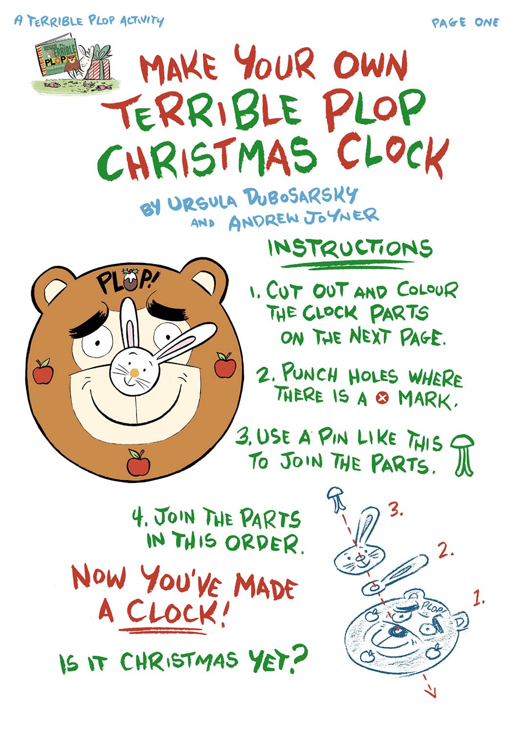 the terrible plop christmas clock