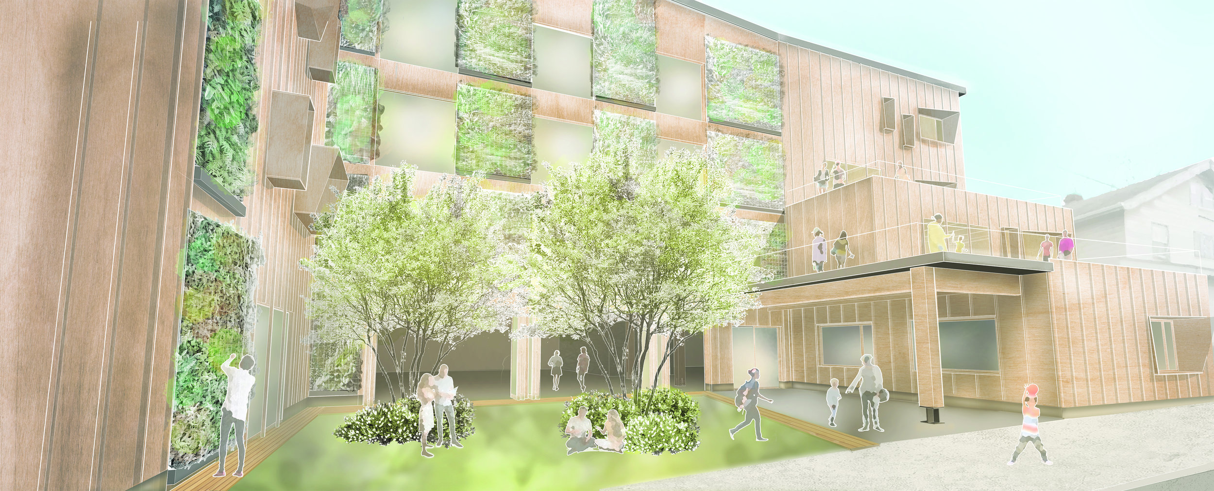 Can a school promote environmental sustainability and a center for urban agriculture? -