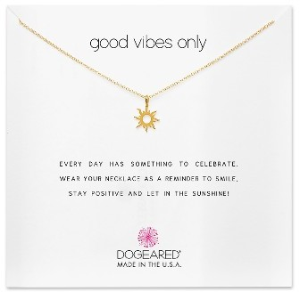 GOOD VIBES ONLY PENDANT NECKLACE