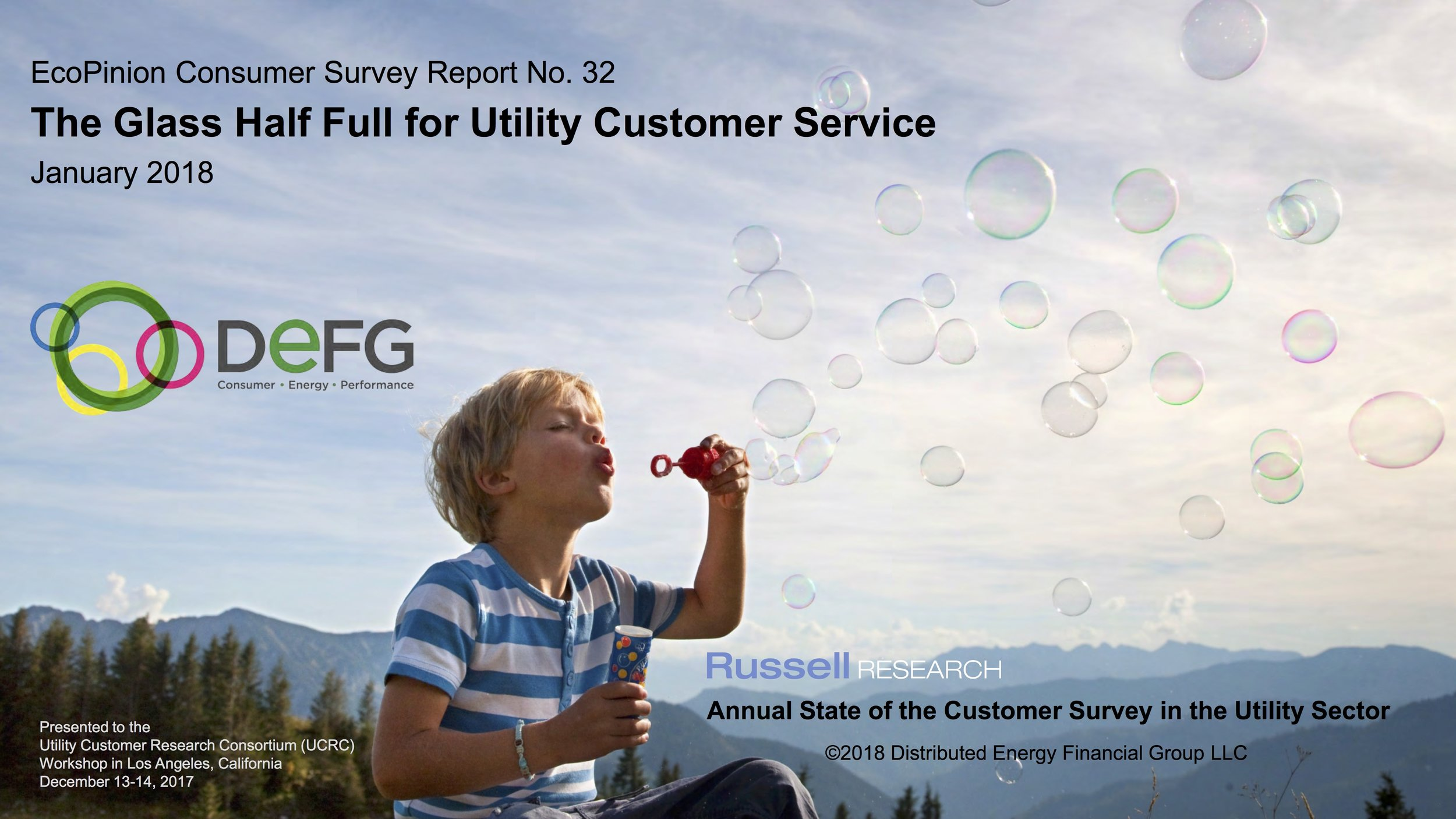 The Glass Half Full for Utility Consumer Service   EcoPinion Consumer Survey Report #32
