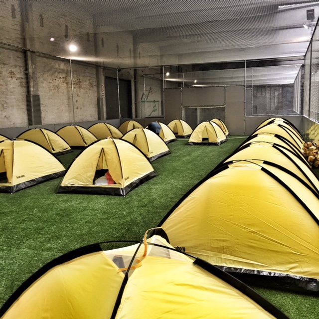 It's not the Ritz, it's the Yellow Tents