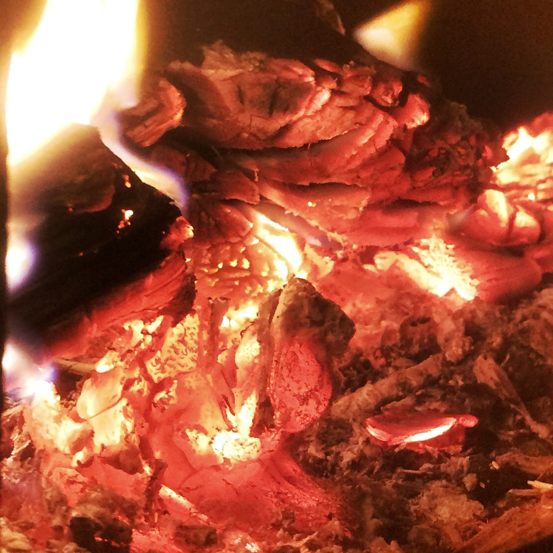 You need red hot coals like those shown above. Don't drop it on white coals covered in soot!