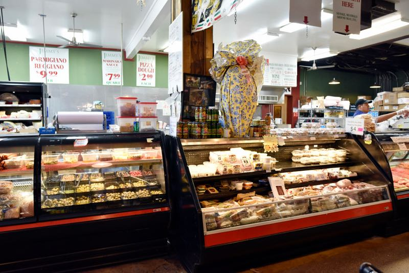 The charcuterie case at Jimmy's Food Store in Dallas. (Ben Torres/Special Contributor)