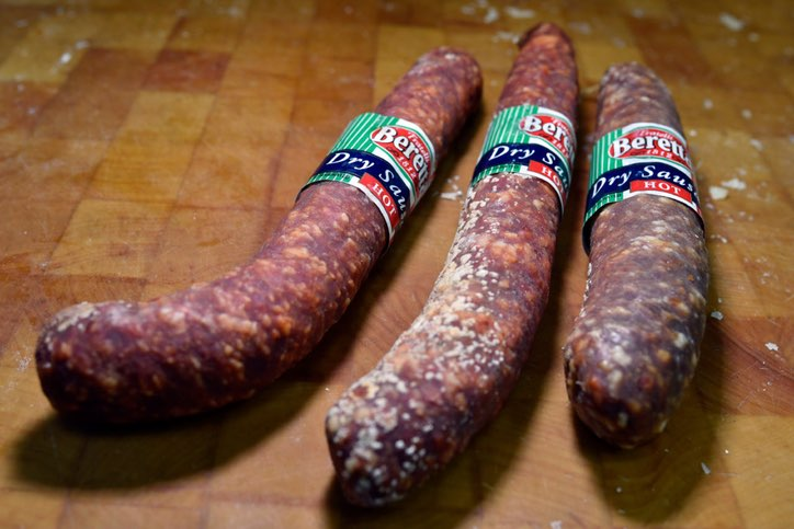 Beretta spicy sausage from Jimmy's Food Store. (Ben Torres/Special Contributor)