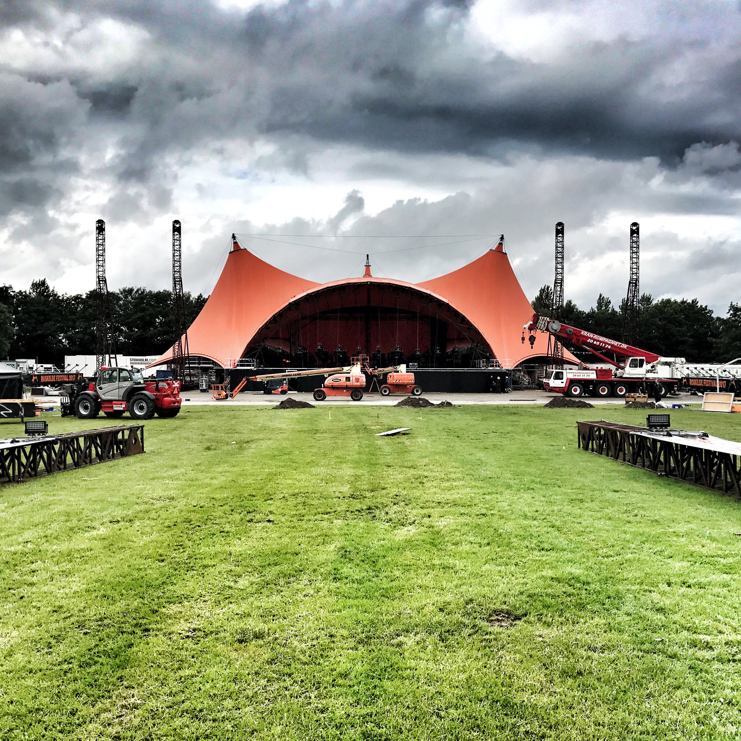 The Orange Stage, the center of Roskilde Festival a few days before opening.