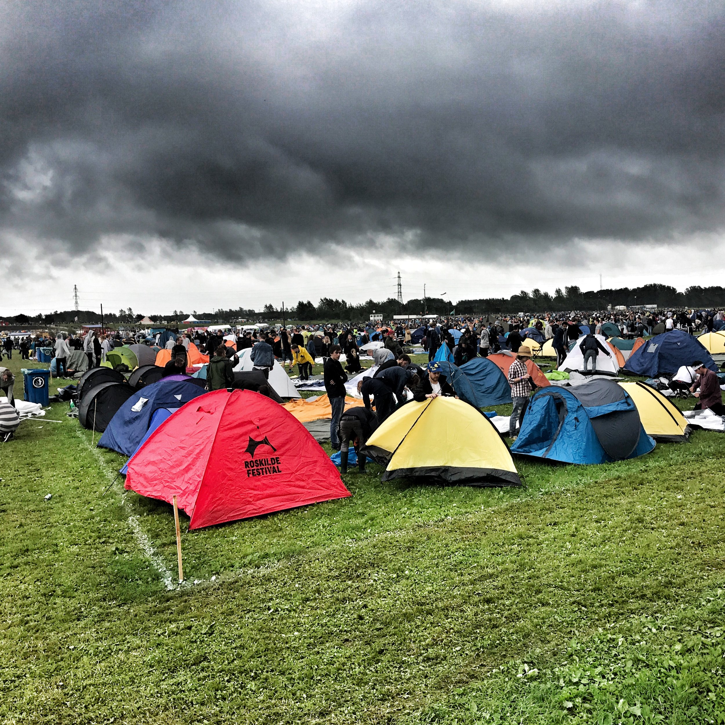 One of the many campsites at Roskilde - over 130,00 campers!