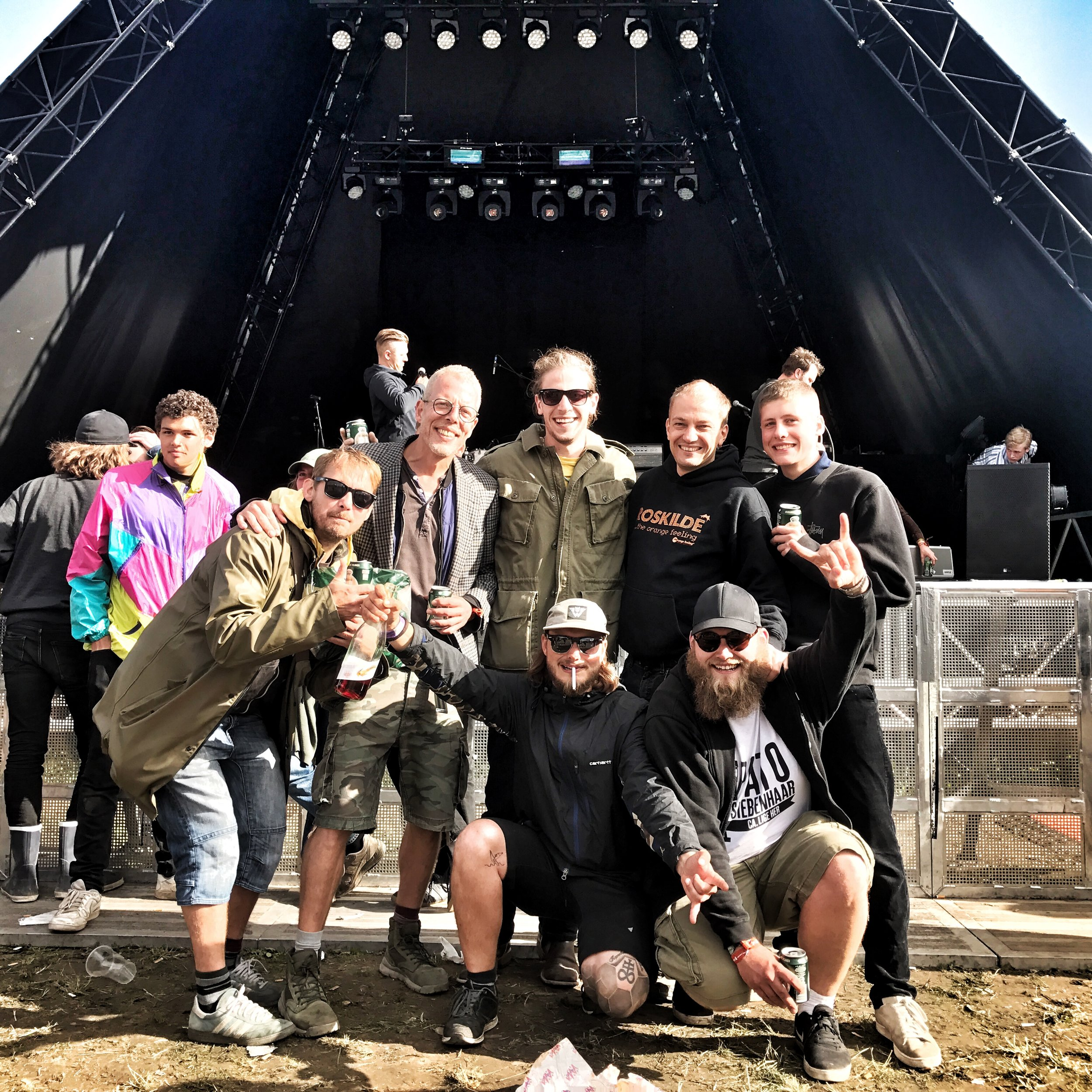 My Roksilde/Folkets Madhus crew - Thanks for the great festival guys!
