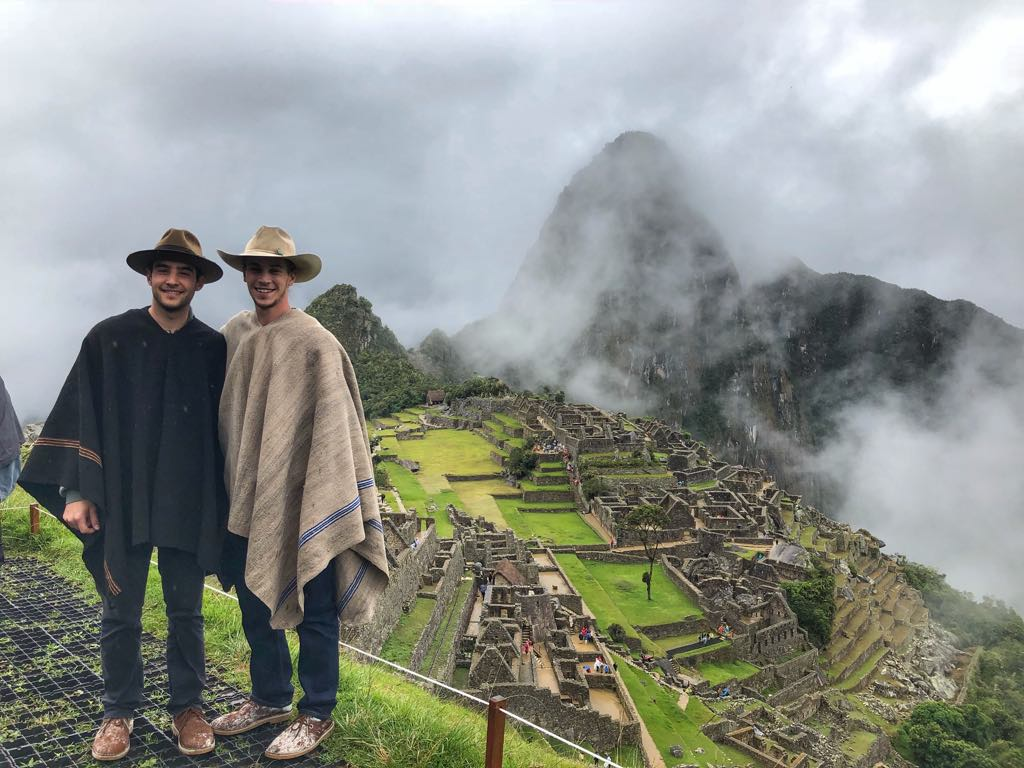 Sam and I, sporting our new ponchos, at Macchu Picchu.