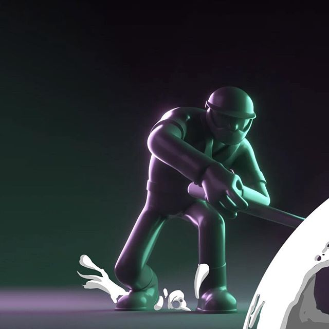 1/2 - A still from a piece I reworked earlier this year. #design #animation #2d #fx