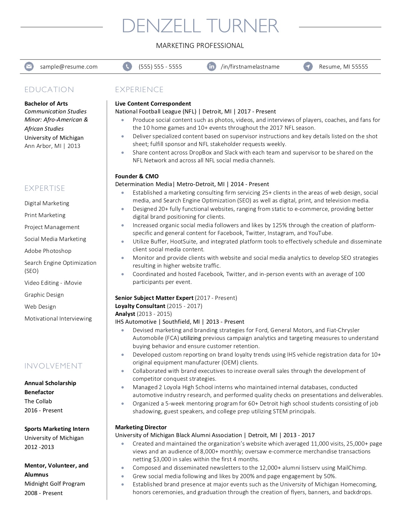 Client Resume #27. Click to enlarge.