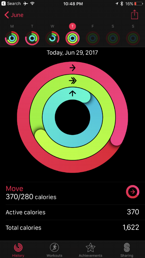 Falconcara apple watch series 2 activity iphone app calorie tracking
