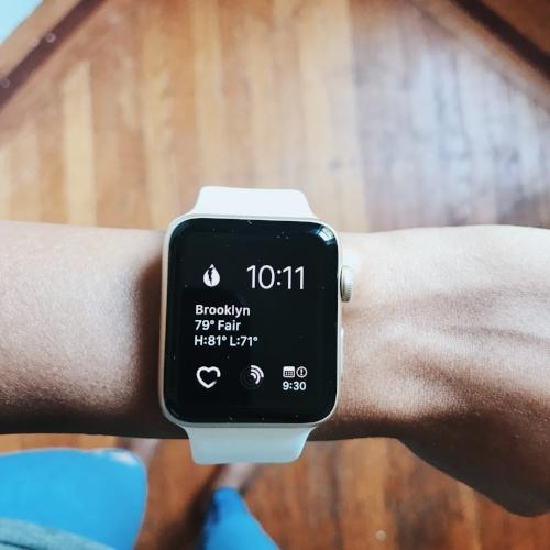 apple watch series 2 custom face dark sky app heart rate