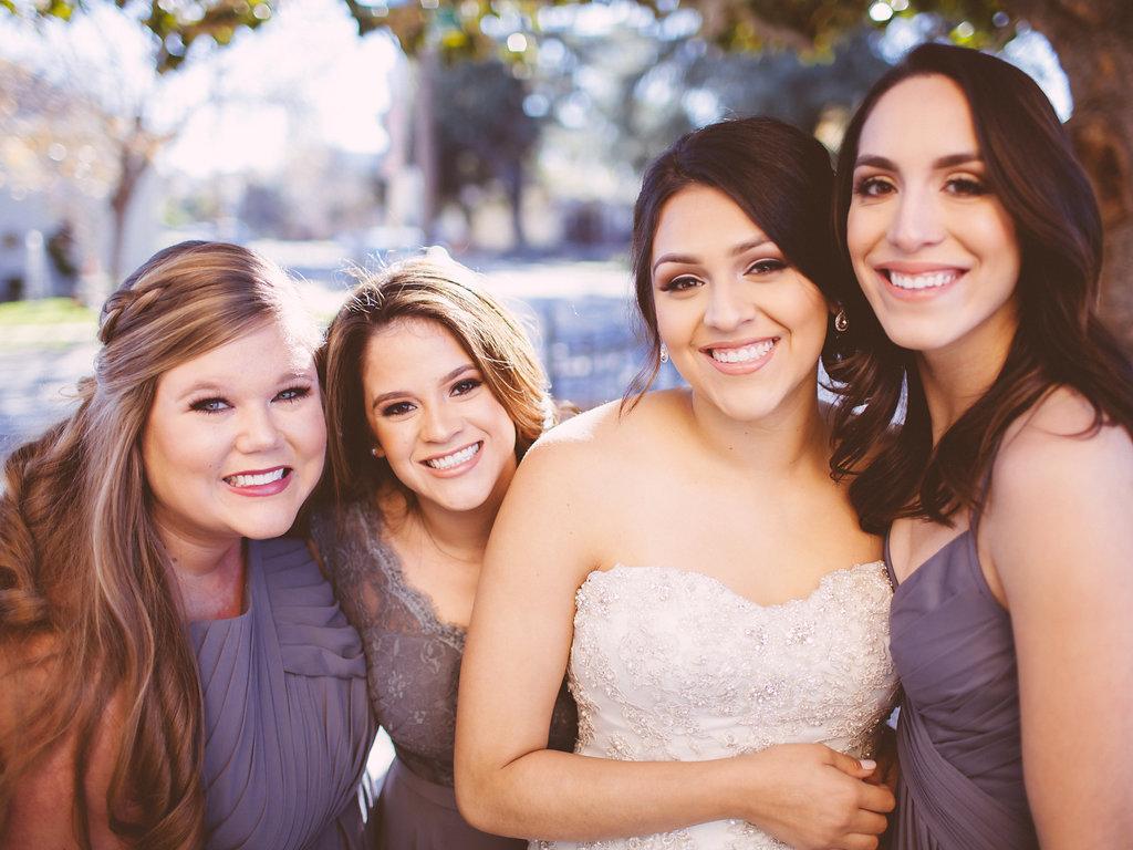 Bride and Bridesmaids Makeup