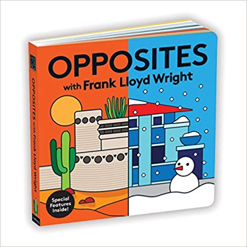 I stumbled upon these  books  for babies using Frank Lloyd Wright architecture and can't get over how beautiful they are!