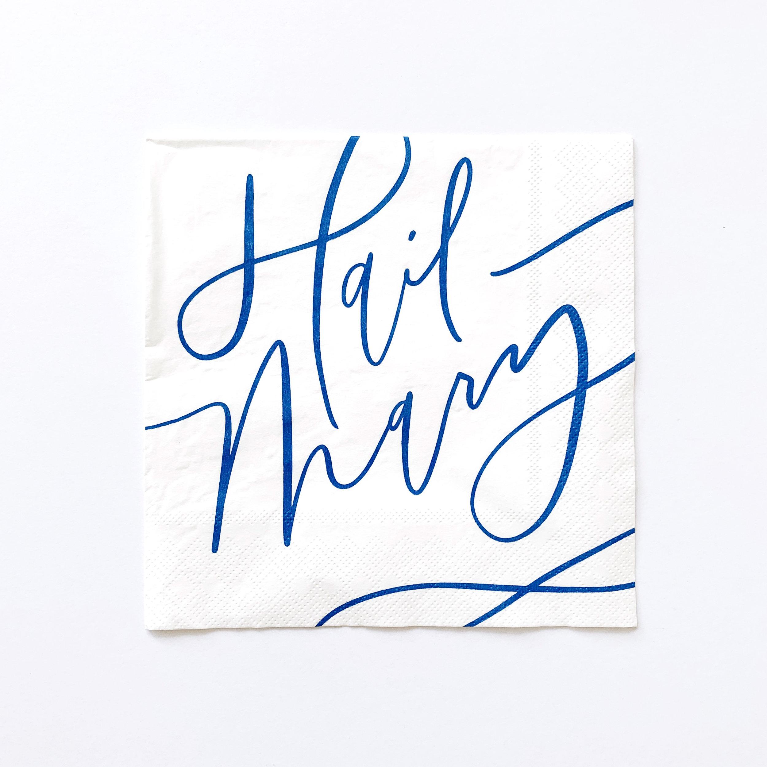 hail mary paper napkin
