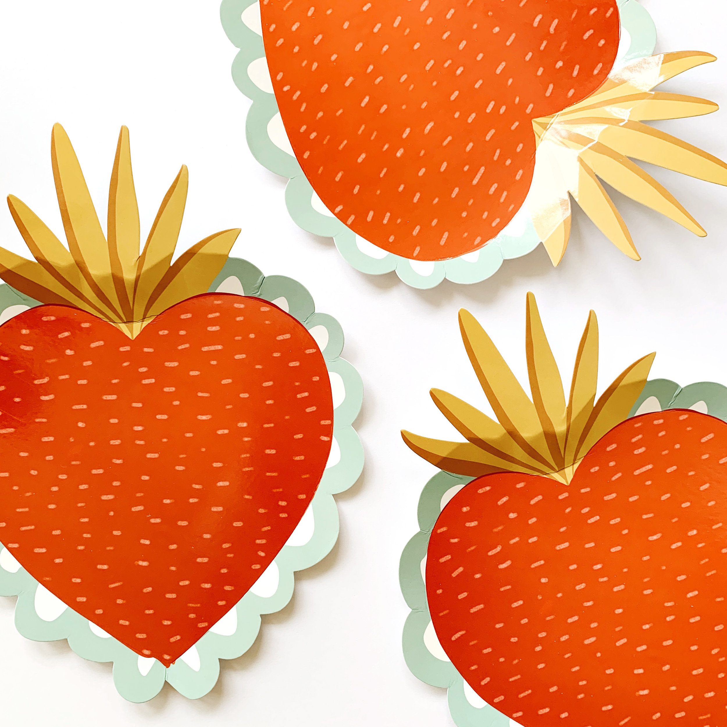 sacred heart paper plates