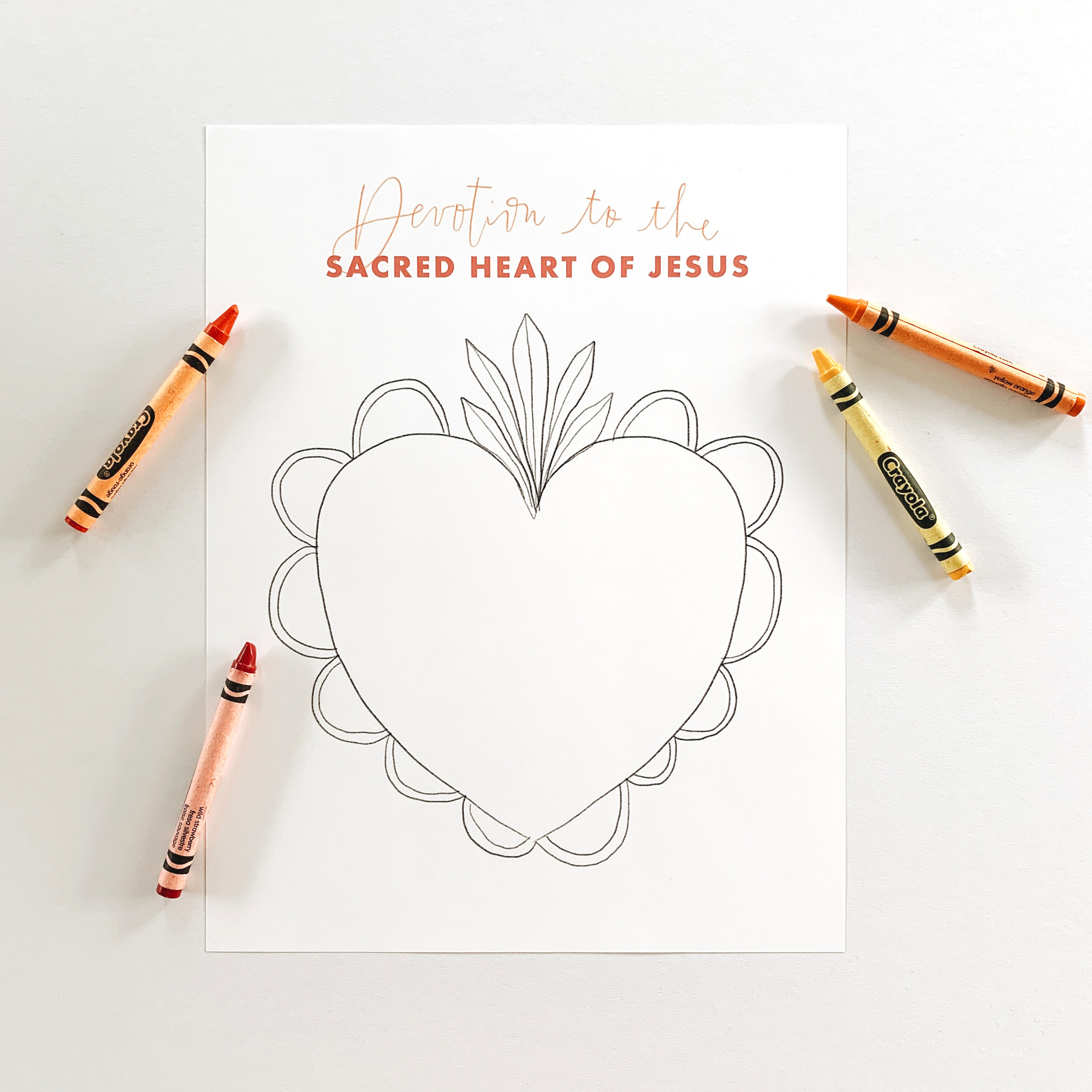 sacred heart coloring sheet