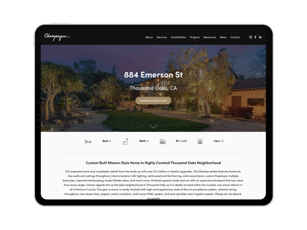 Property Website - Beautifully designed websitesWe will design a beautiful website for your property with a custom url. Prospects can view all property info at this central hub.